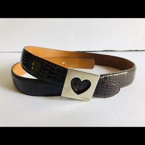 Moschino leather heart belt S Made in Italy